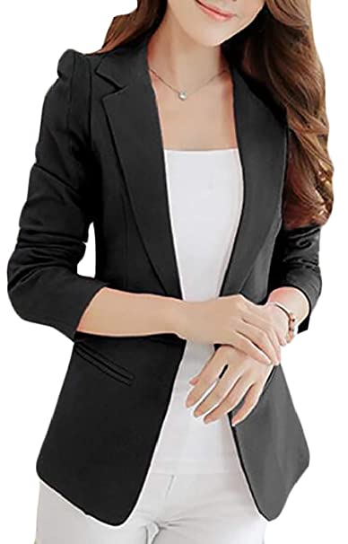 Amazon.com: Cromoncent - Chaqueta de trabajo para mujer con ...