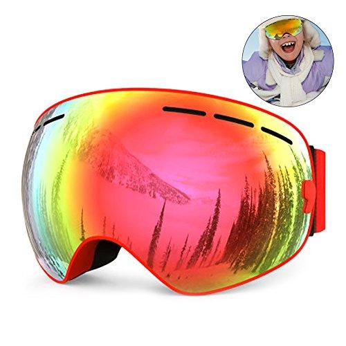 RUNACC Teenager Ski Goggles Anti-fog Skate Eyewear Wind-proof Snowboard Glasses, Suitable for Skiing and Skating, - Skiing Eyewear