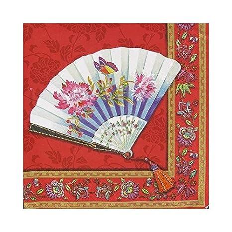 Ihr Giapponesi Colore Rosso Orientale Tovaglioli Di Carta Colore