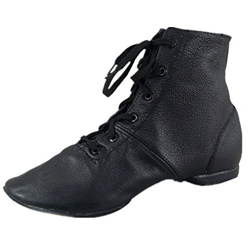 Image of Cheapdancing Men's Practice Dancing Shoes Soft Leather Flat Jazz Boots