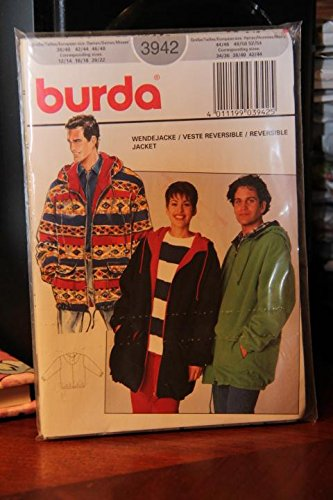 Burda Misses Jacket (Burda Pattern 3942 Sizes Misses' 12/14 16/18 20/22 Sizes Men's 34/36 38/40 42/44 / Reversible Jacket)