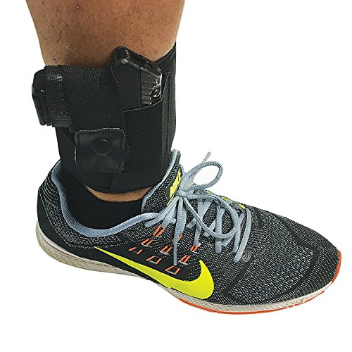 Ankle Holster – ALWAYS PROTECT YOUR LOVED ONES AND NEVER WORRY ABOUT SAFTEY AND SECURITY AGAIN – Fits Soft Around the Ankle – Hand Specific Design – by Trigger Happy Outfitters (right)