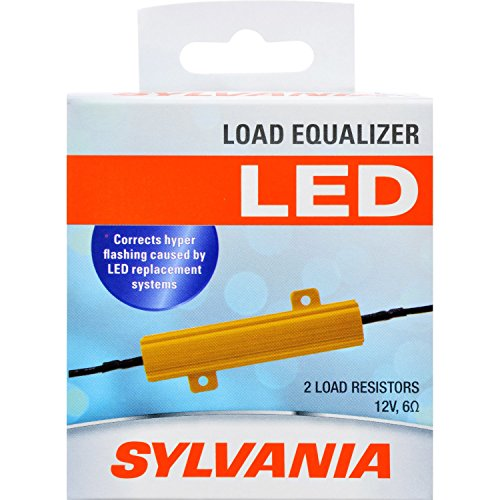 - SYLVANIA - Load Equalizer 27 Watt (at 12.8V) - Turn Signal Load Resistor for LED Light Bulbs, Corrects Hyper Flash & Bulb Out Warning (Pack of 2)