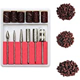 Cadrim Nail Art Drill Bits and Sanding Bands Sets, Electric Nail Drill Machine Replacement Bits for Nail Filing with 6…