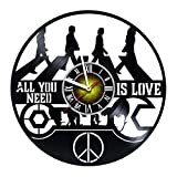 Toffy Workshop The Beatles - Vinyl Record Wall Clock - Exciting guest room decor idea for adults, men and women - Music Modern Wall Art Design