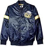 NCAA Michigan Wolverines Men's Satin Retro Full Snap Jacket, Large, Navy