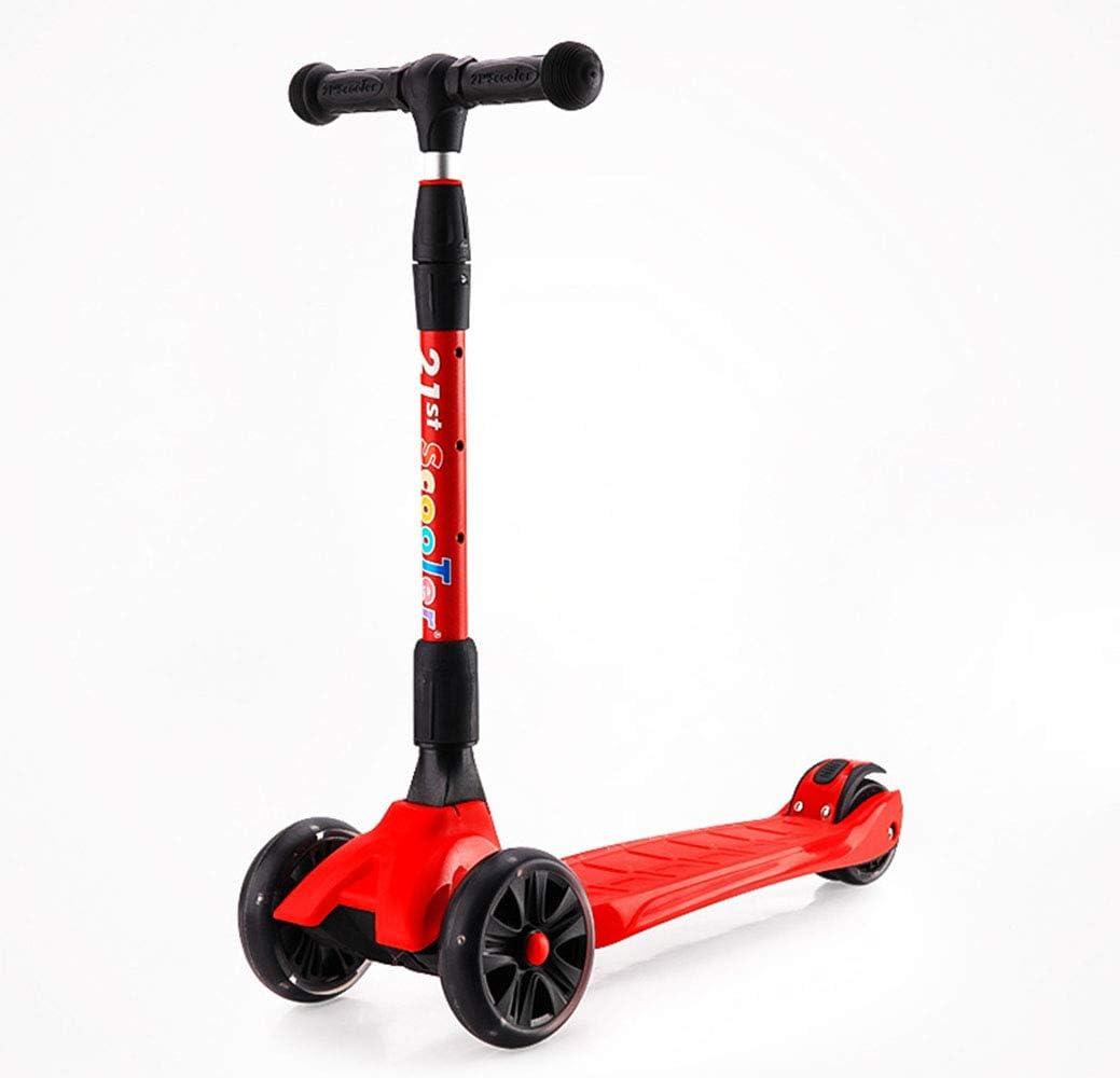 キックスクータール ハンドブレーキ 持ち運び便利なベ 4速調整高さ 軽量3.5kg アルミニウム製 立 ボディサイズ60×25×66cm 赤
