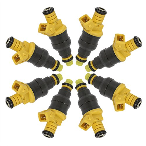 Fuel Injectors For Ford F-150 F-250 F-350 E-150 E-250 E-350 Econoline Club Wagon 4.6L 5.0L 5.4L 5.8L 1991 1992 1993 1994 1995 1996 1997 1998 1999 2000 20001 2002 Replaces 0280150718 by DOICOO(8PCS) by DOICOO