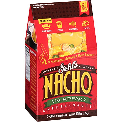 Gehls Authentic Stadium Jalapeno Nacho Cheese Sauce (2 Bags, 50 Ounces Each) (Gehls Nacho Cheese Sauce compare prices)