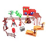 Toy Soldiers Safari Wild West Cowboys & Indians Army Action Figures Playset Boy's War Game Educational Party Toy - 60 pcs