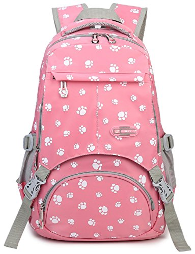 Girls School Bags for Kids Elementary School Backpack Bookbags for Child (Pink) - 3rd Birthday Bag