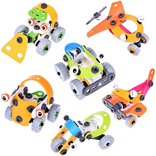 6 Pack Stocking Stuffer & Goodie Bag Fillers for Kids, Take Apart Toys with Tools, Stem Toys for Easter Egg Stuffers, Easter Basket Stuffers