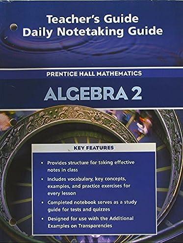teacher s guide daily notetaking guide for pre algebra prentice rh amazon com