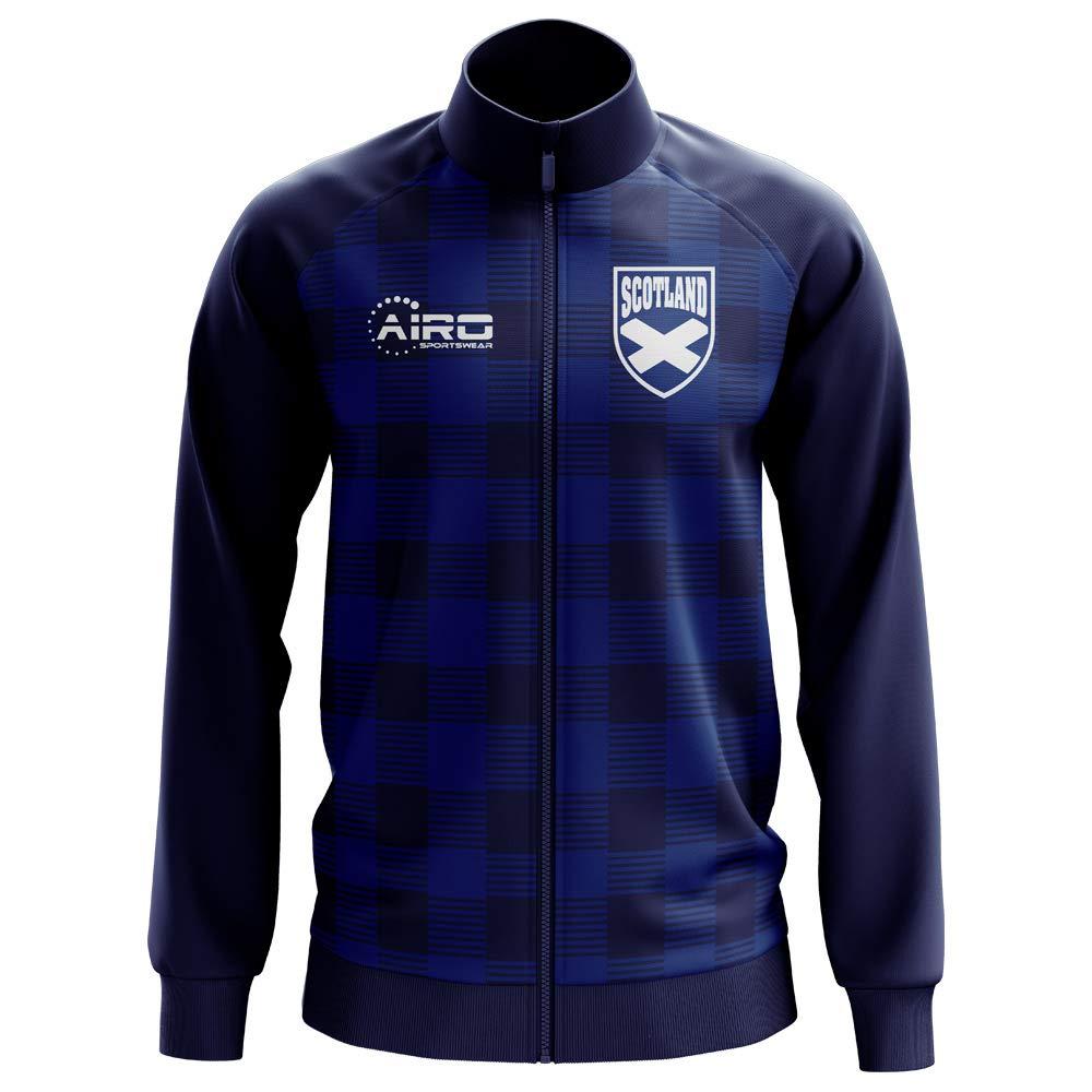 Airo Sportswear Scotland Tartan Concept Football Track Jacket (Navy) - Kids