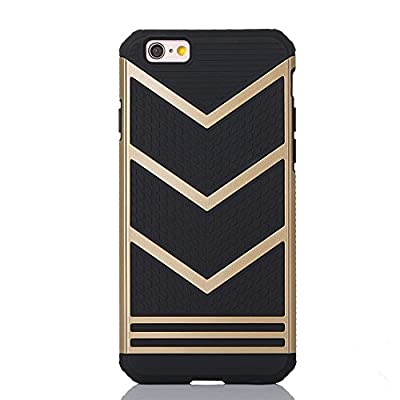 LOEV Non-slip Shockproof Armor iPhone 6s Protective Case Hybrid Slim Fit Anti-slip Bumper Case Cover for Apple iPhone 6 iPhone 6s 4.7 inch iPhone 6 Plus iPhone 6s Plus 5.5 inch - V Shape - Gold