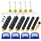 Replacement 4 Aero Vac Filter+3 set Beater Brush+5 side Brush kit for iRobot Roomba 600 Series 529 595 610 620 625 630 650 660 670