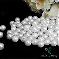 Craft and Party Pearl 1-Lbs loose beads vase filler (14mm, White)
