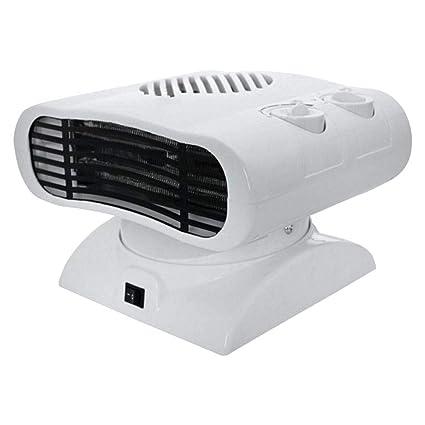 Calentador eléctrico Calentador de aire caliente y frío, Calentador de ventilador ajustable Temperatura portátil Sacudida
