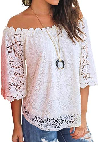 MIHOLL Womens Shoulder Casual Blouse product image