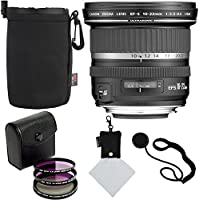 Canon EF-S 10-22mm f/3.5-4.5 USM SLR Lens, Sandisk 32GB, Polaroid Optics 77mm 3 Piece Filter Set (UV, CPL, FLD), Ritz Gear Protective Case, Polaroid Micro Fiber Cleaning Cloth & Accessory Bundle