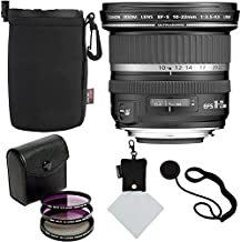 Canon EF-S 10-22mm f/3.5-4.5 USM SLR Lens, 77mm 3 Piece Filter Set (UV, CPL, FLD), Ritz Gear Protective Case, Polaroid Micro Fiber Cleaning Cloth & Accessory Bundle