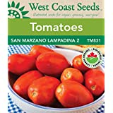 Tomato Seeds - San Marzano Lampadina II Certified Organic