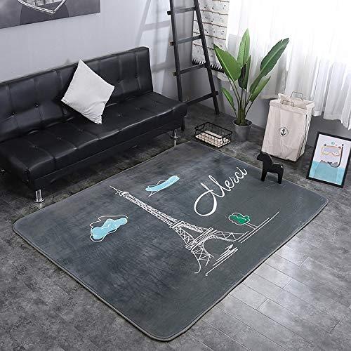 nobrand ZLEG E Tower Pattern Rectangular Polyester Anti-Skid Household Carpet Yoga Mat, Size: 200cm x 150cm
