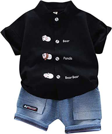 Moonker 2Pcs Toddler Baby Girls Boys Summer Shorts Outfits Cartoon Vest Tops Shorts Set for 1-3T