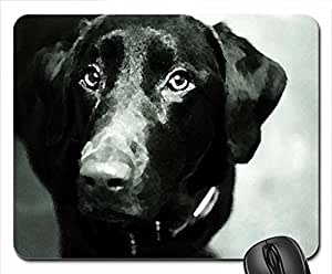 Black dog Mouse Pad, Mousepad (Dogs Mouse Pad, 10.2 x 8.3 x 0.12 inches)