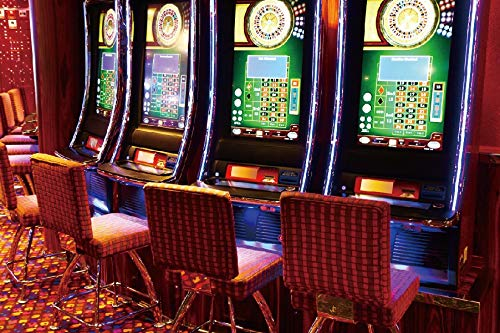 Yeele 10x8ft Gaming Slot Machines Backdrop Luck Play Game Casino Gamble Game Hall Background for Photography Las Vegas Adult Photo Portrait Shoot Vinyl Studio Props