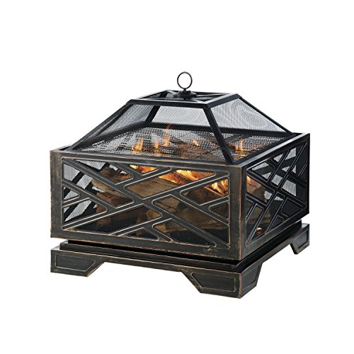 Pleasant Hearth Martin Extra Deep Wood Burning Fire Pit, 26-Inch (And Best Hearth Fire Patio)