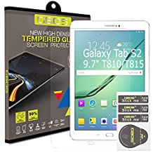 2 x Pack - GBOS® Samsung Galaxy Tab S2 ,9.7 inch Genuine Tempered Glass Screen Protector For Samsung Galaxy Tab S2, 9.7 SM-T810/T815/T813/T817 with [HD,9H Hardness,Crystal Clear,Bubble Free]