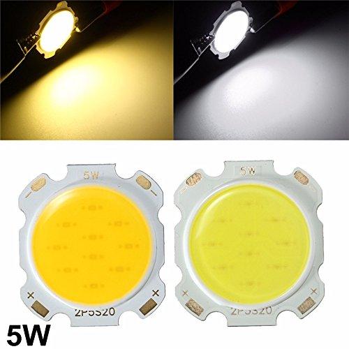 5W DIY LED COB Chip High Power Bead Light Lamp Bulb Warm/Cool White DC15-17V (Random: Color)