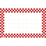 Retail Price Sign Sign Cards White Cards With Red Checkerboard Border - 5 1/2 L x 2 1/2 H 100 Per Pack