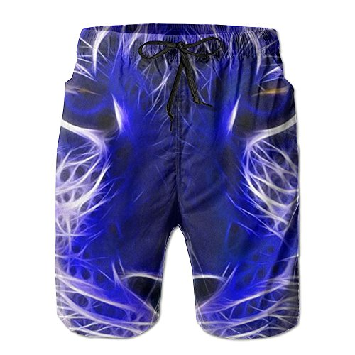 - QWETR Tigre Neon Cool Baseball Cool Classical Surfing Shorts Beach Board Shorts