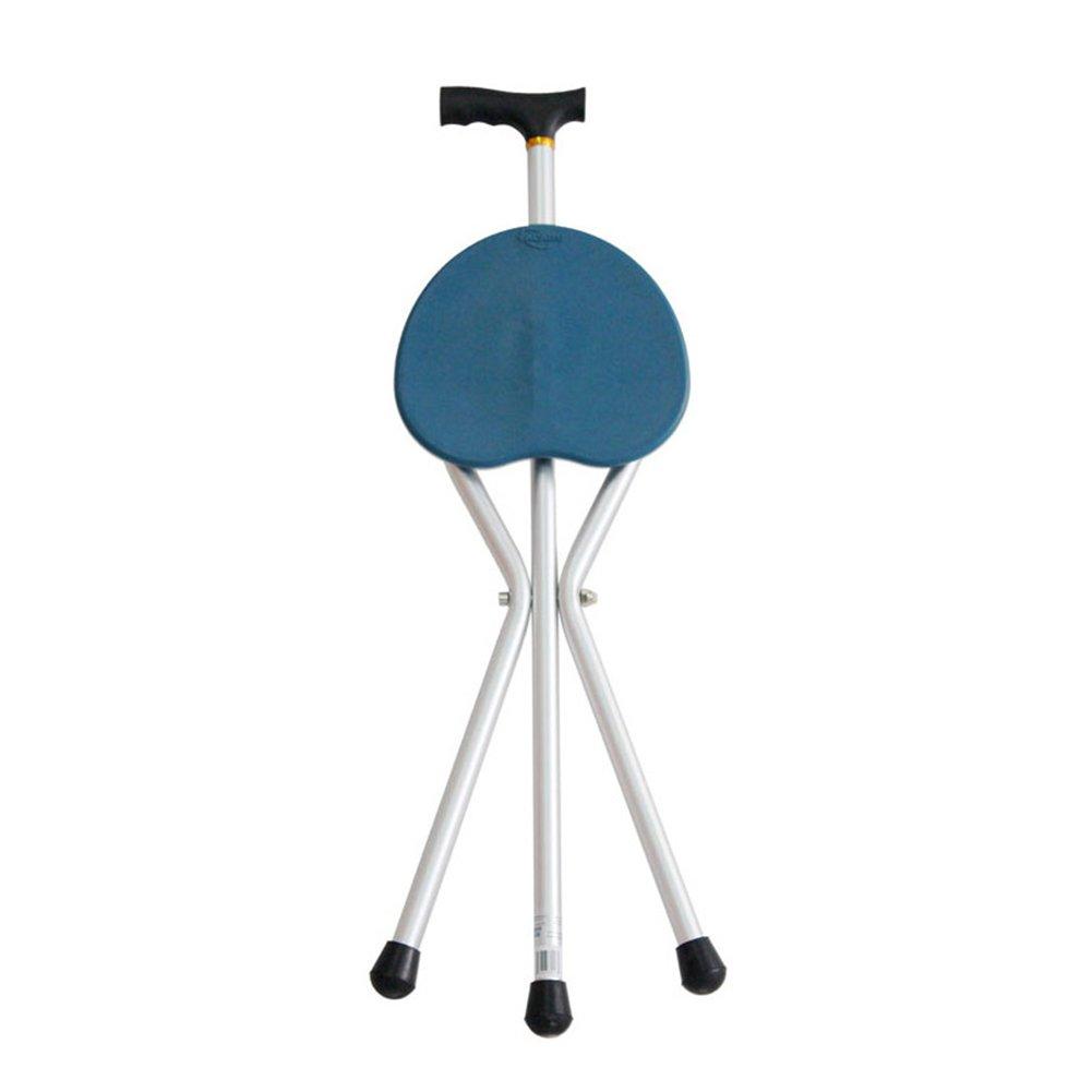 リアル スリップ 三脚 折り畳み式 折りたたみ 3脚杖, 高齢者 折り畳み式 障害者 B07LCDD5Z3 医療援助 3脚杖, 歩行補助杖 松葉杖の椅子-青 B07LCDD5Z3, こだわりの寝具店。:325d15f8 --- a0267596.xsph.ru