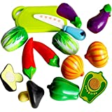 Realistic Sliceable Vegetables Cutting Play Toy Set with Velcro
