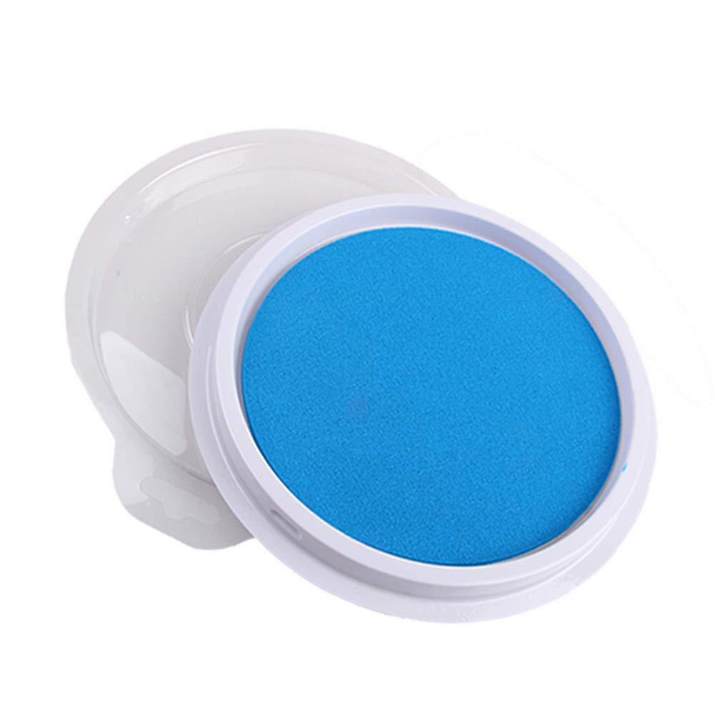 ZYCX123 Lavabile Fai da Te Finger Pratica Inchiostro Pittura Rilievo di Bollo Tondo Multifunzione Timbro Blu
