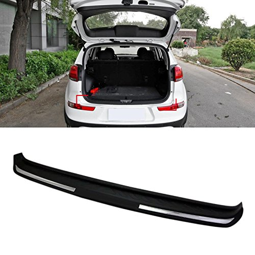 HIGH FLYING Black Rear Boot Outer Bumper Guard Sill Plate Molding for Kia Sportage 2017 2018