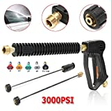 Autoleader Hot 3000PSI High Pressure Water Spray Gun Lance Washer Nozzle Tip 50cm Wand Set Tool