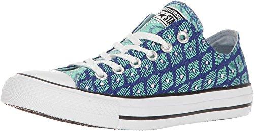 Star Print Ox Shoe - Converse Chuck Taylorr All Starr Festival Print Ox True Indigo/Green Glow/White Women's Shoes