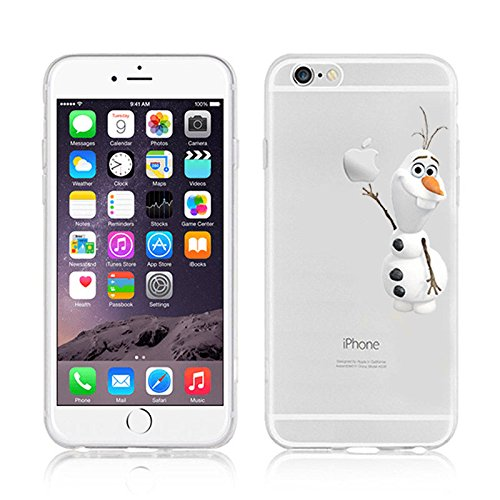 NEW DISNEY CARTOONS TRANSPARENT CLEAR TPU SOFT CASE FOR APPLE IPHONE 7 OLAF