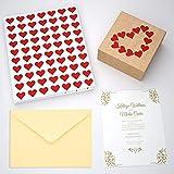 Royal Green Heart Red Sticker for Envelopes