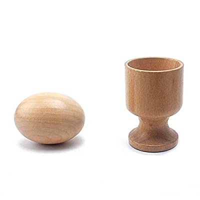 Baby Toy Montessori Materials Object Fitting Exercise Ball Egg and Cup Early Education Preschool Toys Basic Life Skills Practice (Egg Cup): Clothing