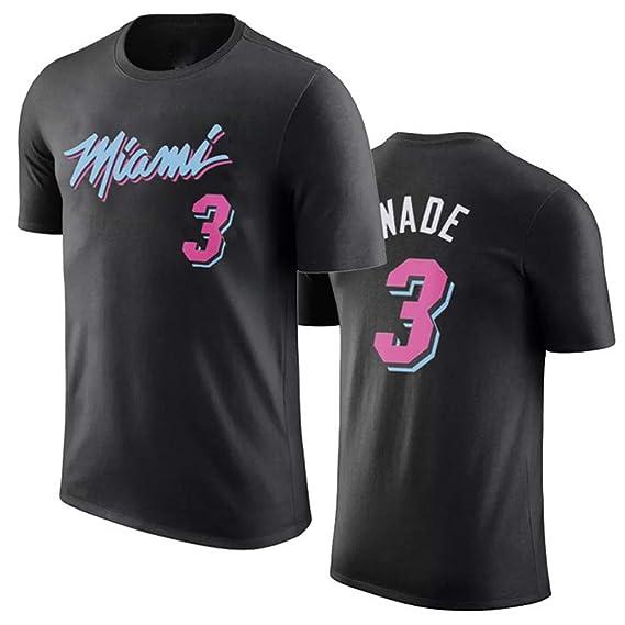 WYNBB Camiseta de Manga Corta Miami Heat No.3 Dwyane Wade ...
