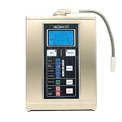 Air Water Life Aqua Ionizer Deluxe 7.5| Best Home Alkaline Water Filtration System | Produces pH 4.5-11 Alkaline Water | Up to -800mV ORP | 4000 Liters Per Filter | 7 Water Settings