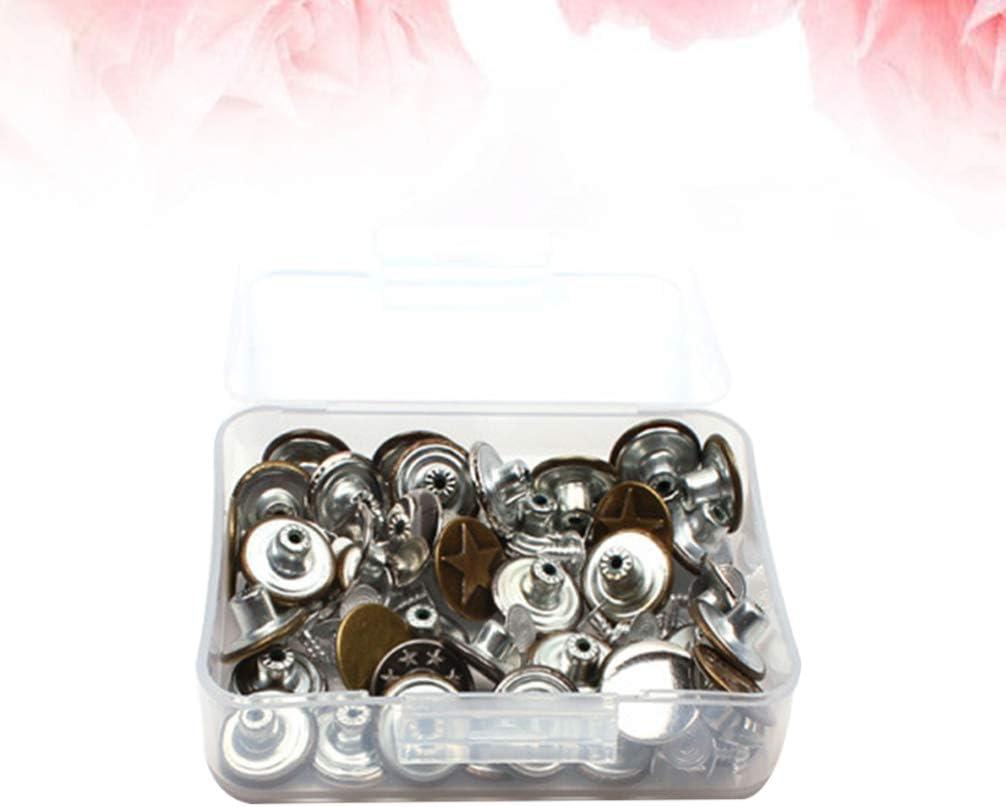 Healifty boutons en m/étal de bouton de remplacement de bouton de jeans en m/étal pour le pantalon en jeans 40pcs