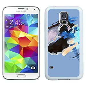 Popular And Unique Designed Cover Case For Samsung Galaxy S5 I9600 G900a G900v G900p G900t G900w With Anime Girl Brunette Jump Smile Stocking white Phone Case