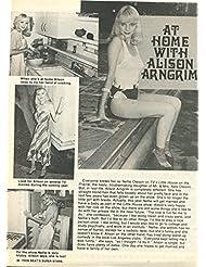 Alison Arrngrim Leggy Eddie Van Halen original 1pg 8x10 clipping magazine photo #S8624