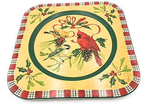 Lenox Winter Greetings Square Platter/Service Plate (Platter Lenox Square)